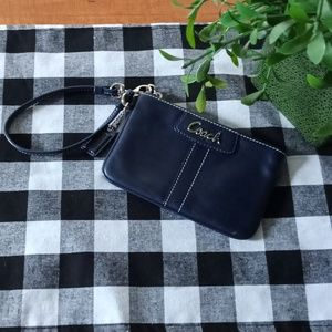 Coach Navy blue wristlet